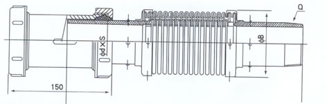 MP-A型煤气管道扰性补偿器